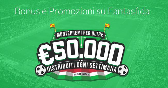 bonus e promozioni con ottimi montepremi su Fantasfida