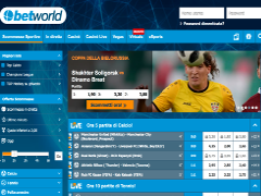 Betworld. com,  bookmaker straniero no AAMS Screenshot