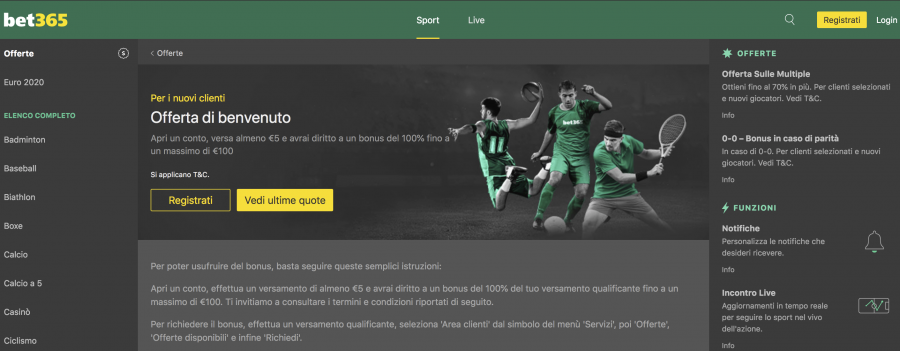 bet365 sito scommesse