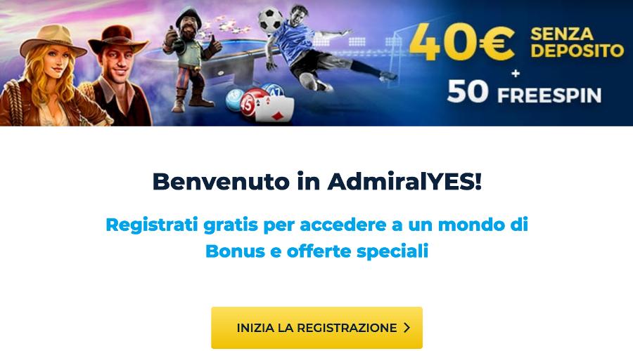 Sportyes bonus senza deposito