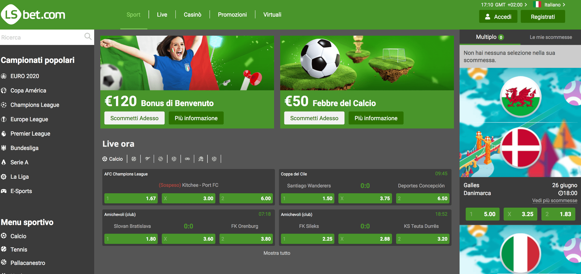 Lsbet sito scommesse non aams