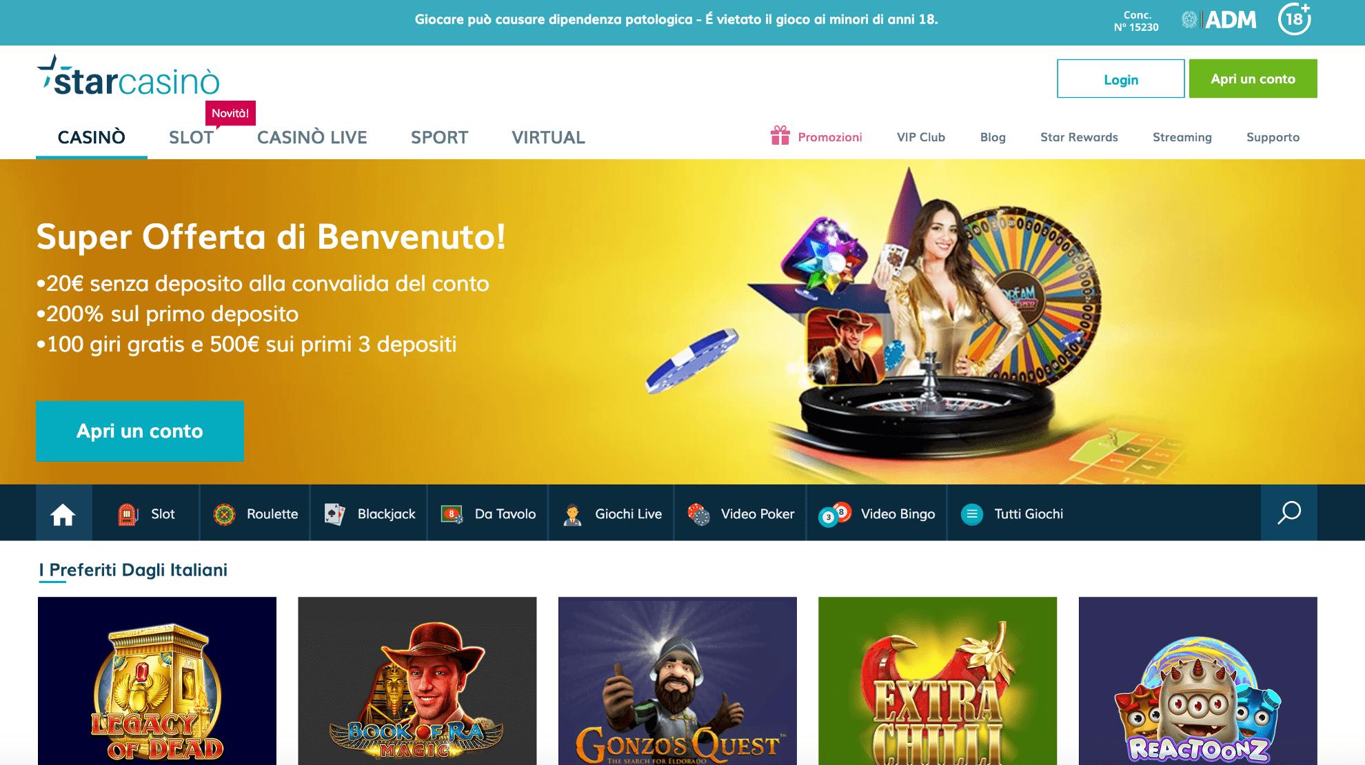 Starcasino miglior casino online AAMS