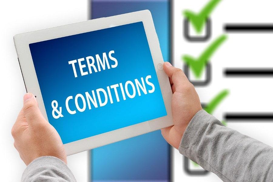 Termini e Condizioni nei bonus senza deposito